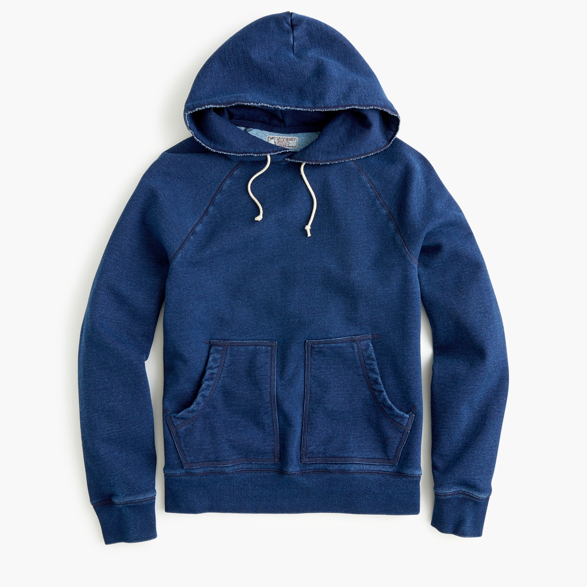 Wallace & Barnes fleece hoodie in indigo wash