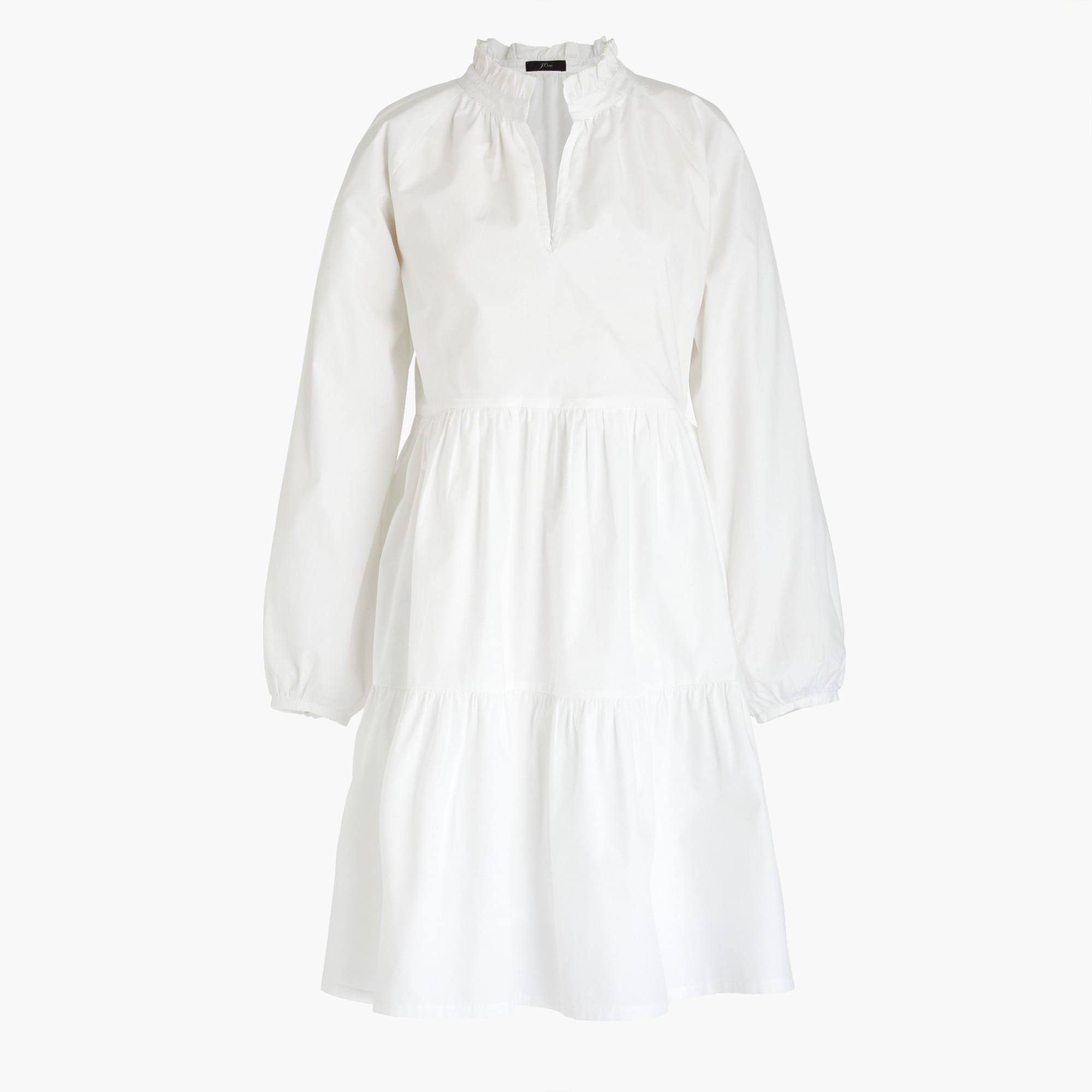 Classic Tiered popover dress in cotton poplin