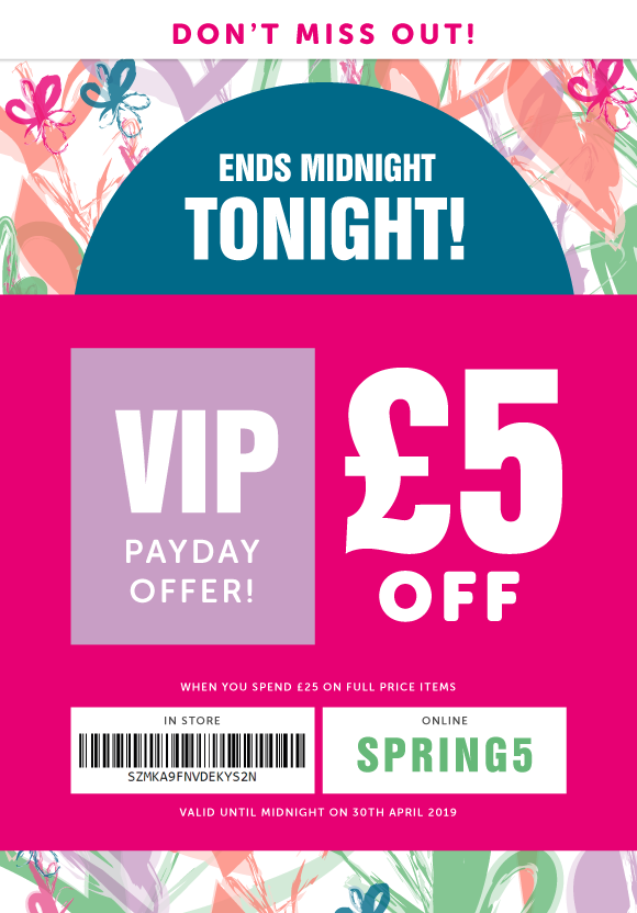 £5-Off-Payday-Offer-Ends-Tonight