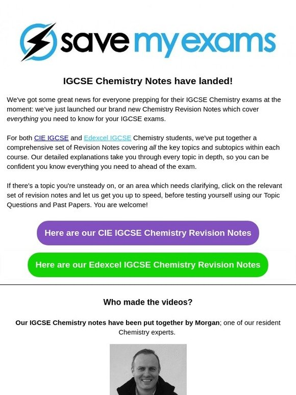 Save My Exams: IGCSE Chemistry Notes now available on Save