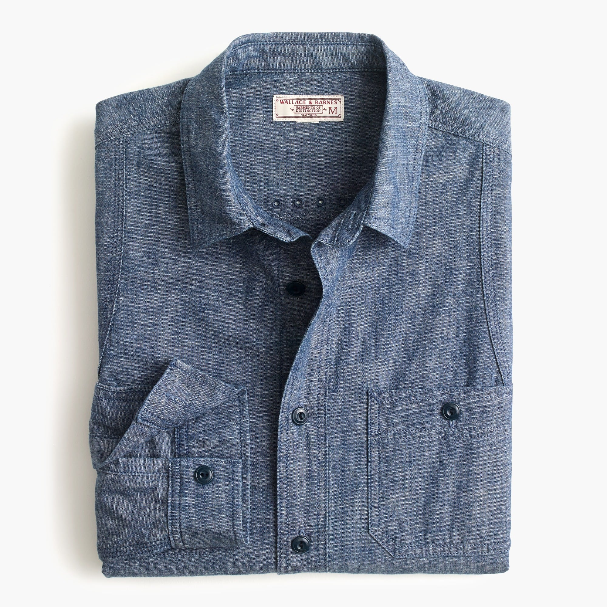 Wallace & Barnes naval workshirt in Japanese chambray