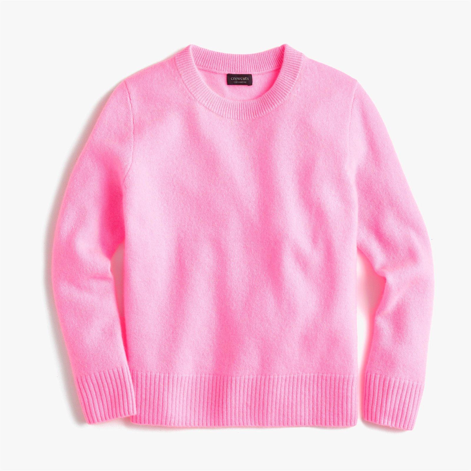 Kids' cashmere crewneck sweater
