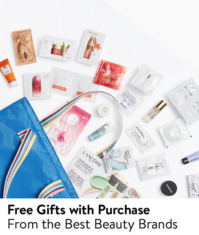 Free gifts with purchase from the best beauty brands.
