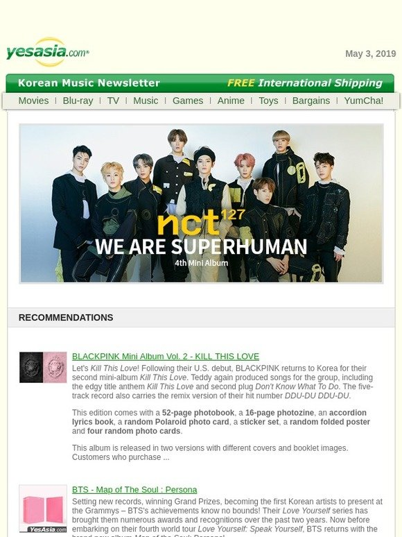 Yesasia: New Korean Music at YesAsia | Milled