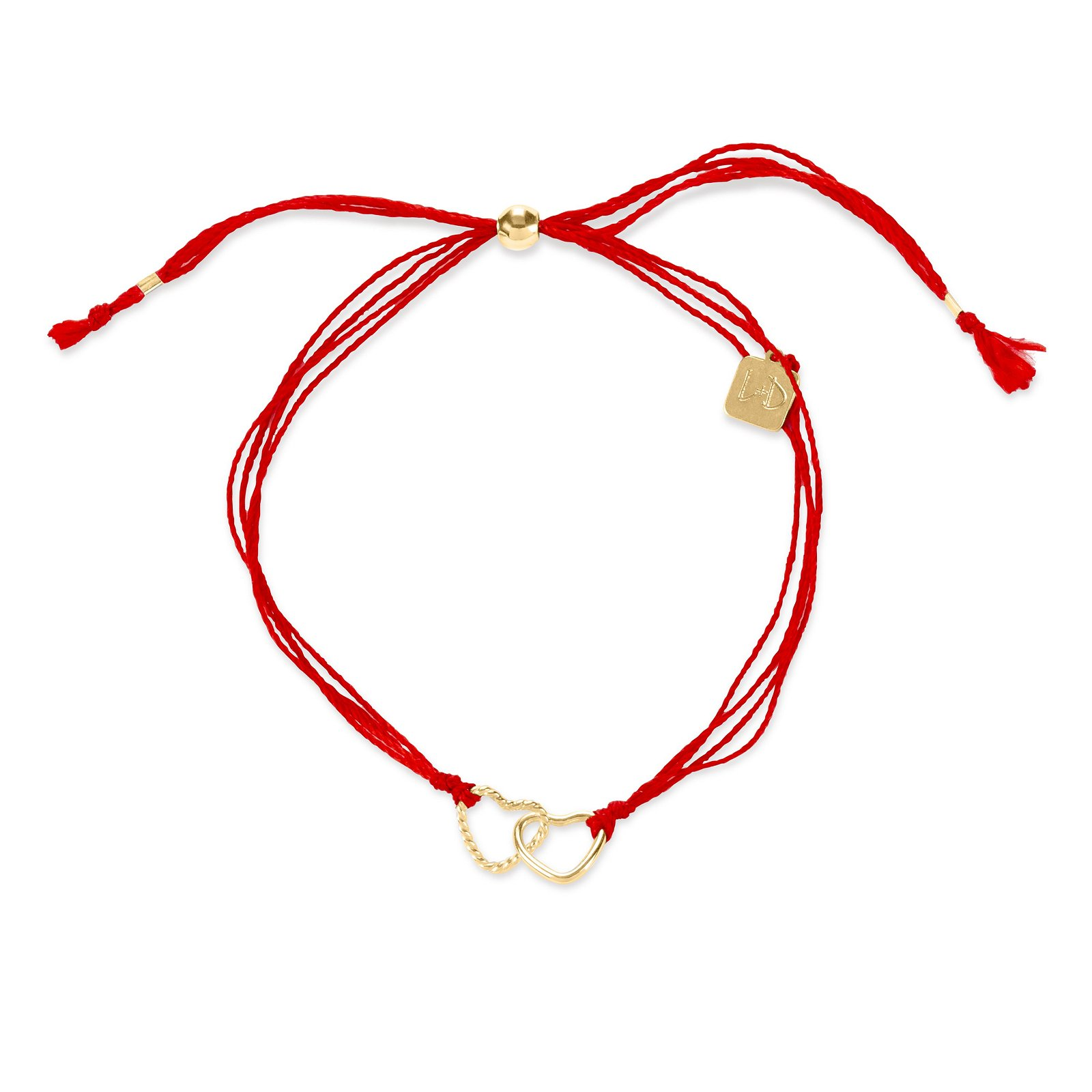 Red Cord with Hearts