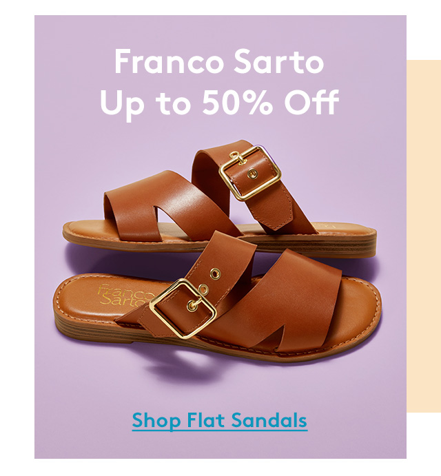 Franco Sarto | Up to 50% Off | Shop Flat Sandals
