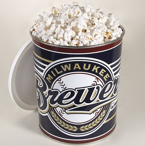 Milwaukee Brewers Popcorn Gift Tin - 1 Gallon