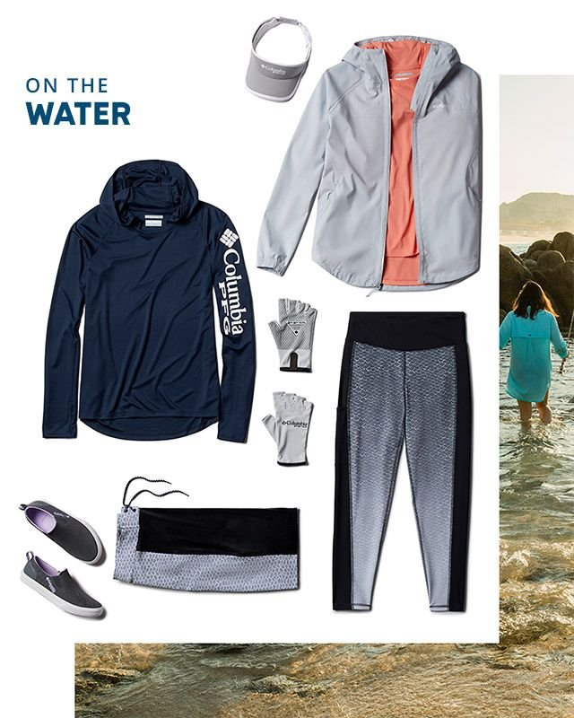 On the water. Assorted PFG for women.