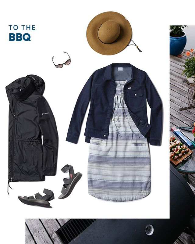 To the bbq. Assorted casual wear for women.