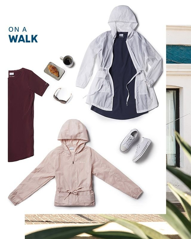 Out to brunch. Assorted Columbia gear for women.
