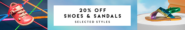 20% off shoes and sandals