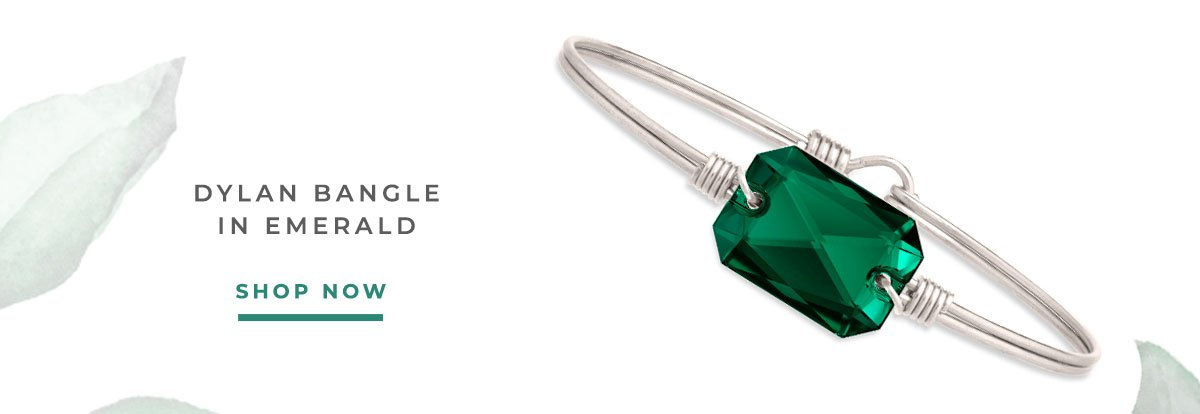 DYLAN BANGLE IN EMERALD   SHOP NOW