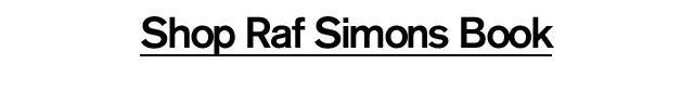 Shop Raf Simons Book