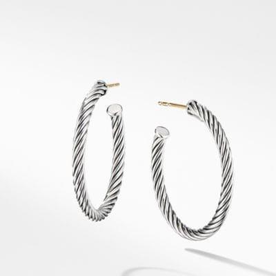 Cablespira Hoop Earrings