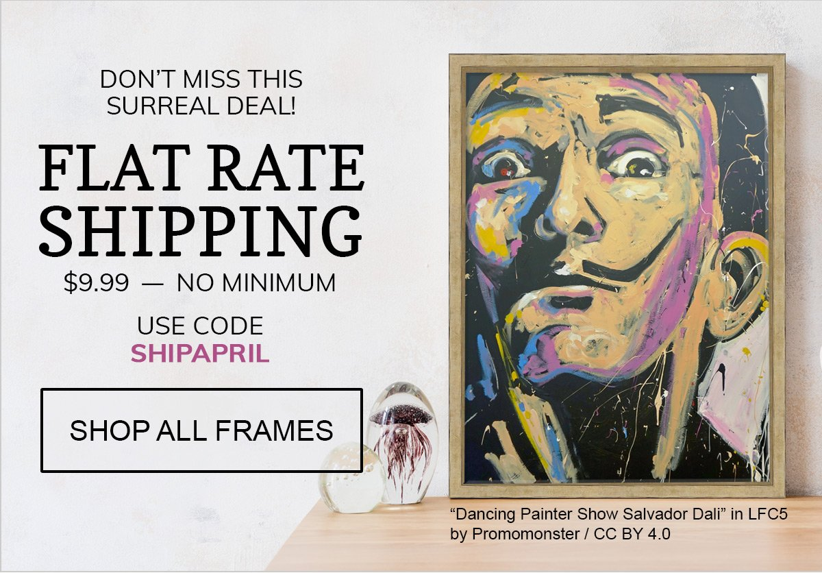This Deal is Surreal! Get $9.99 Flat Rate Shipping with code SHIPAPRIL!