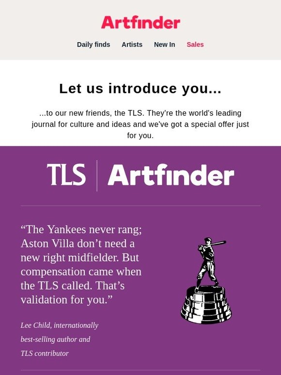 Artfinder: Introducing our new friends, the TLS 🔴 | Milled