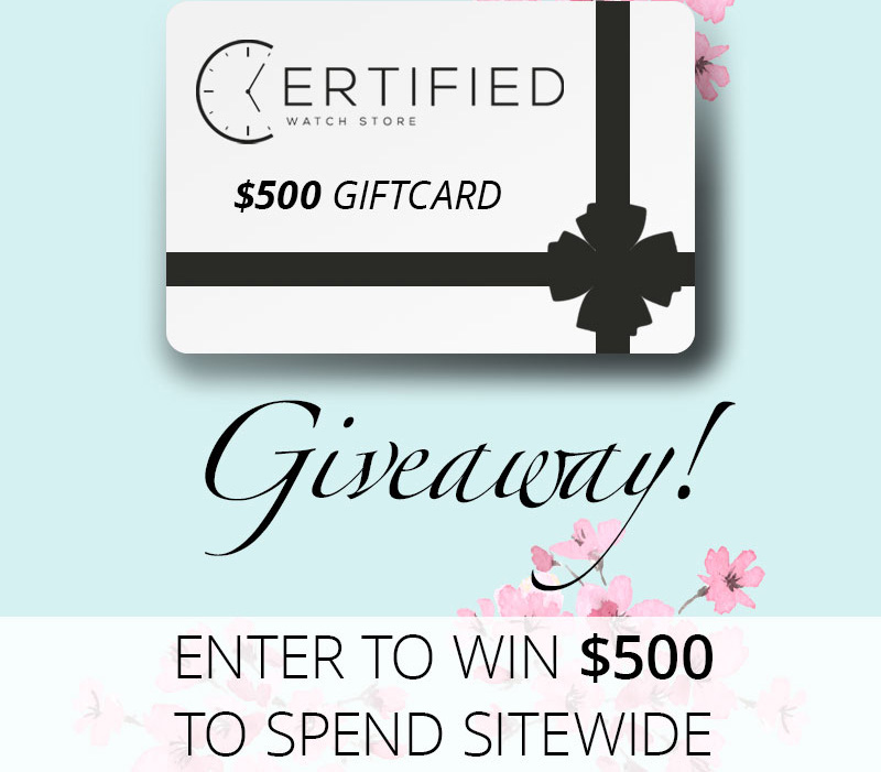 Enter to win a $500 Gift Card