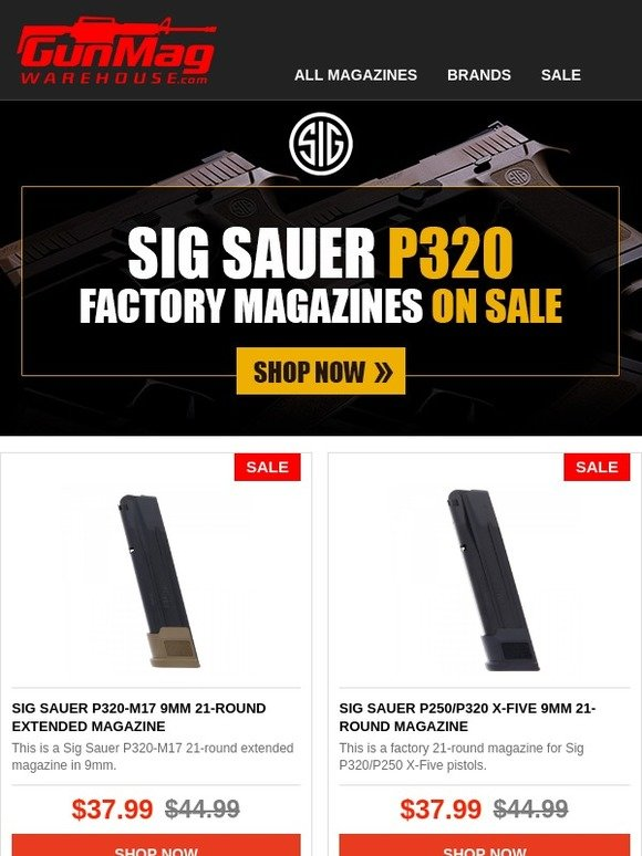 GunMag Warehouse: SALE: Sig Sauer P320 Factory Magazines On