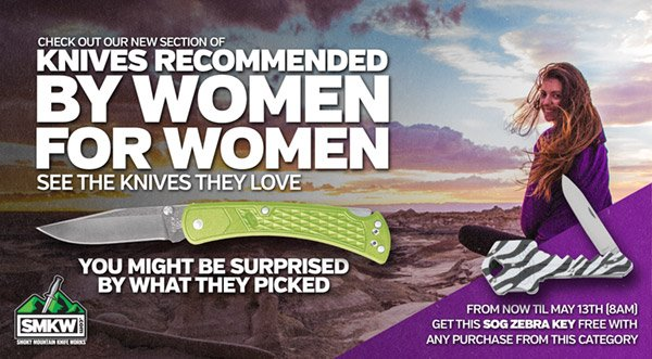 Knives recommended by women for women!