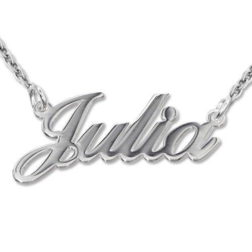 925er Silber Namenskette in Druckschrift- Klassik