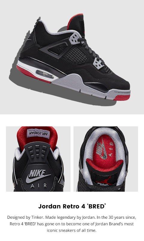 best website f8dbc c9519 Kids Foot Locker: Dropping 5.4: Jordan Retro 4 'Bred' | Milled