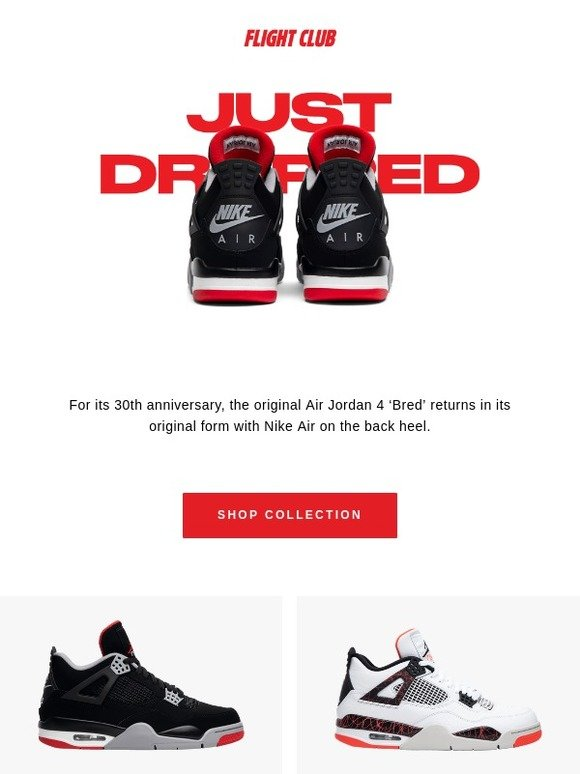 The legendary Air Jordan 4 Retro 'Bred