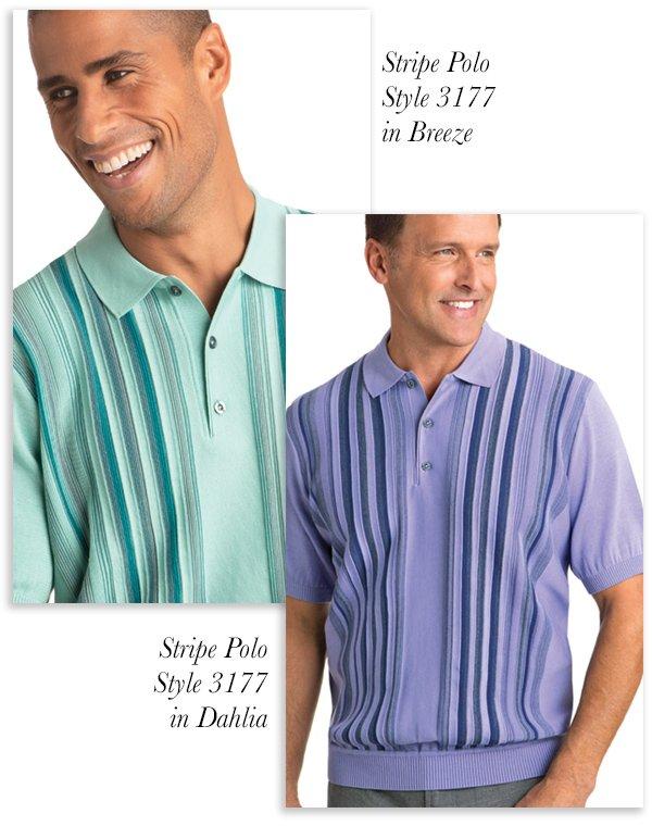 Vertical Stripe Polo - Style 3177
