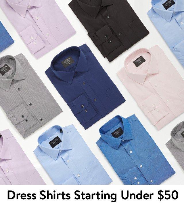 Dress shirts starting under $50.