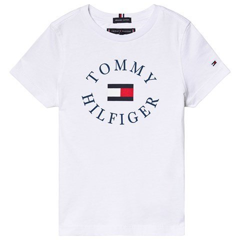 Tommy Hilfiger White Essential Branded Graphic T-Shirt