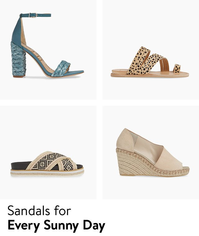 Flat sandals, wedges and more in your size.