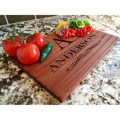 Personalized Large Mahogany Cutting Board