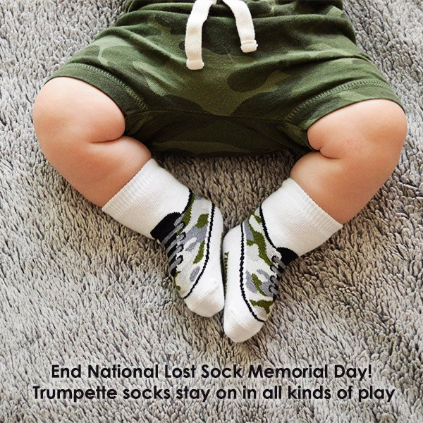 Trumpette Help End National Lost Sock Memorial Day Milled