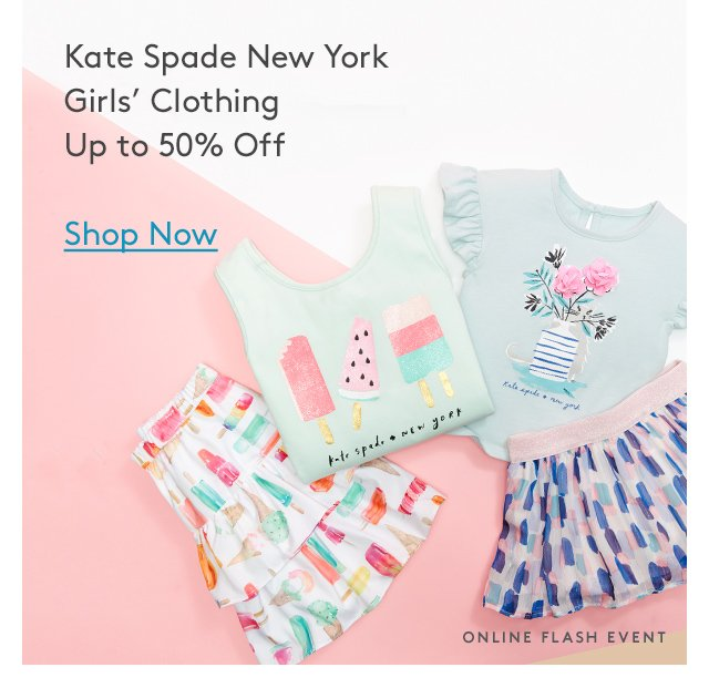 Kate Spade New York Girls' Clothing | Up to 50% Off | Shop Now | Online Flash Event