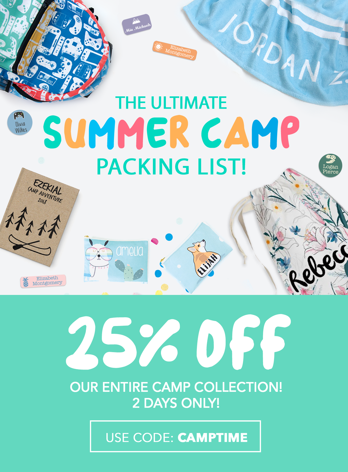 25% Entire Camp Collection With Code: CAMPTIME