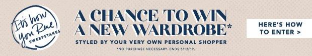 Win a new wardrobe on us!