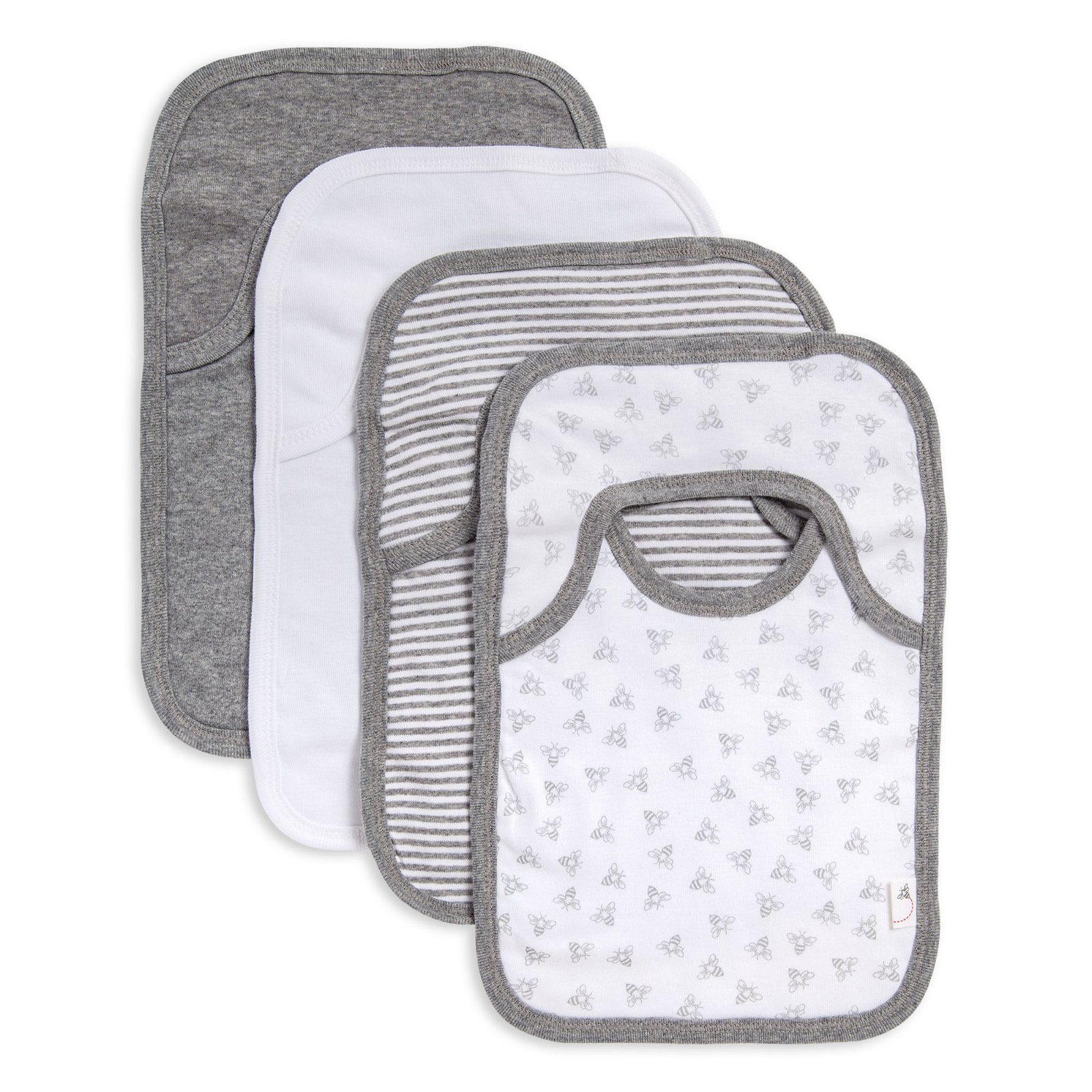 Bee Essentials Organic Neutral Baby Bibs Set of 4