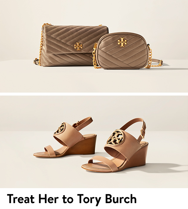 Treat her to Tory Burch handbags and shoes.
