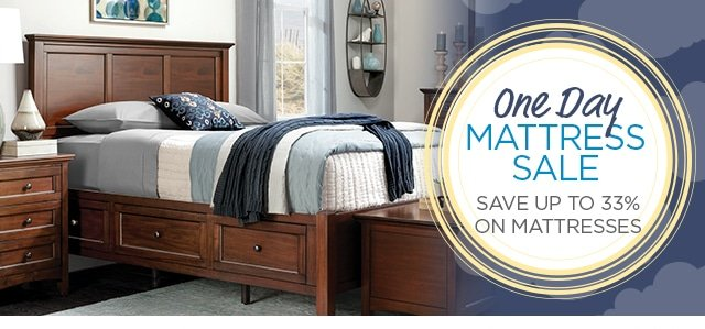 One Day Mattress Sale - Save up 33% on Mattresses