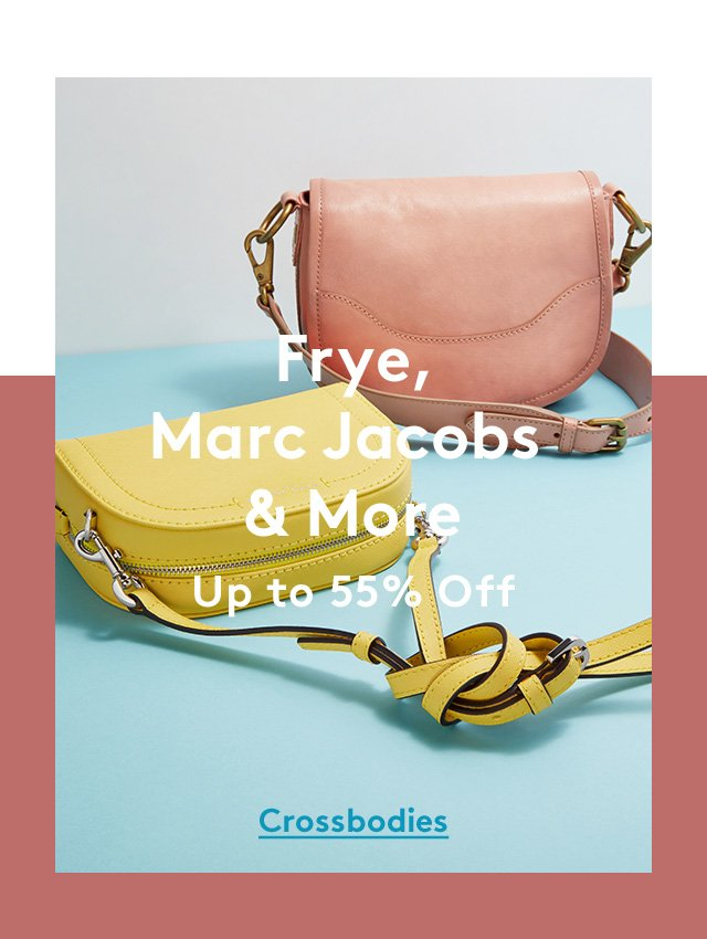 Frye, Marc Jacobs & More | Up to 55% off | Crossbodies