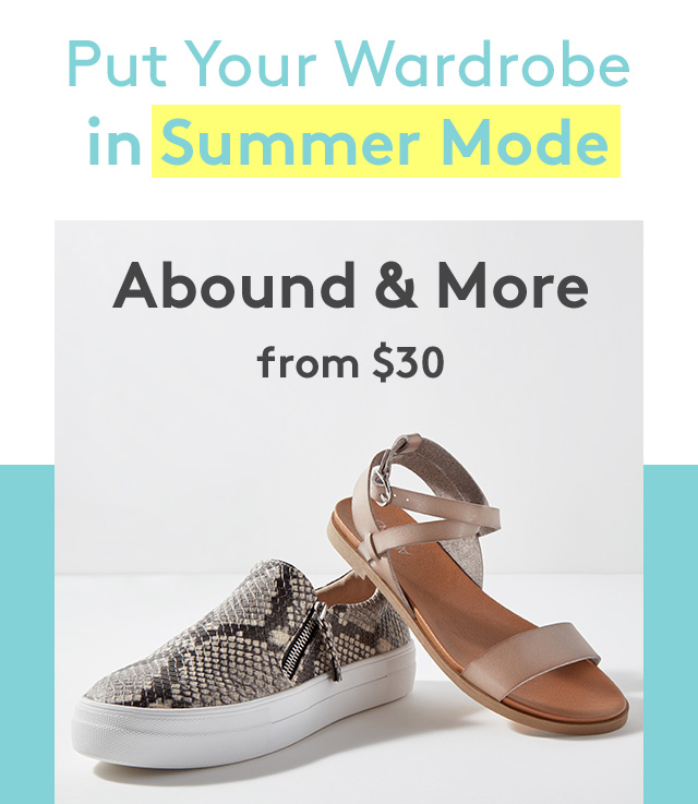 Put your wardrobe in summer mode | Abound & more | From $30