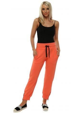 Coral Cleo Zip Side Sweat Pants