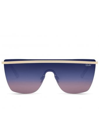 X JLO Get Right Curved Shield Sunglasses