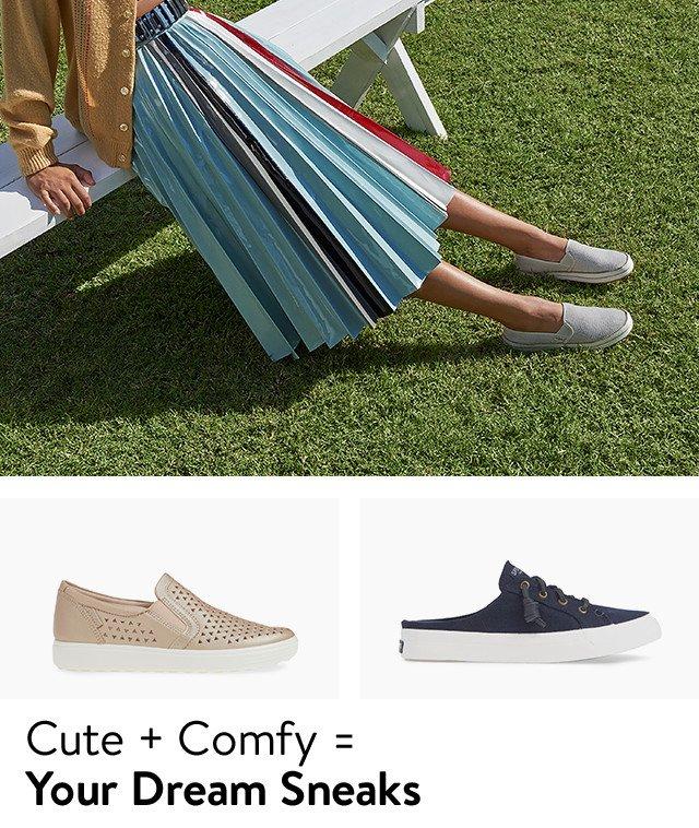 Women's comfort sneakers.