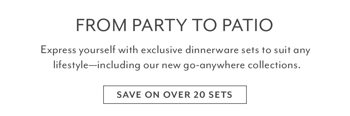 Dinnerware Sets Sale