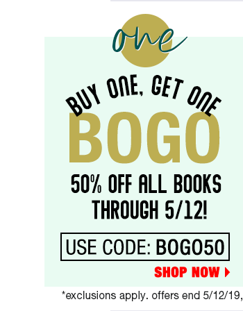 Buy one, Get one 50% off Books with code BOGO50