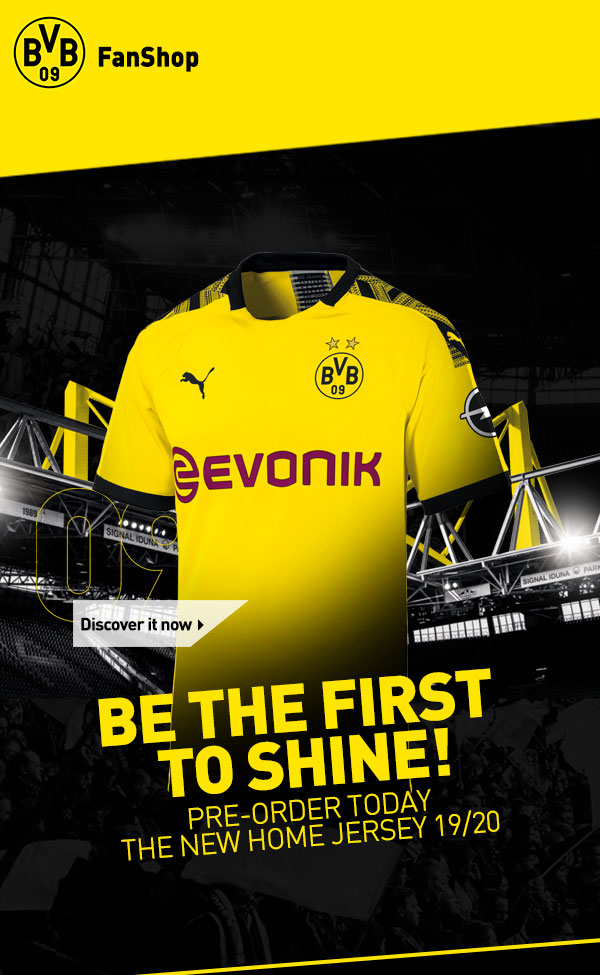 Bvb Borussia Dortmund Bvb Official Stores Exclusive 19 20 Home Jersey Milled