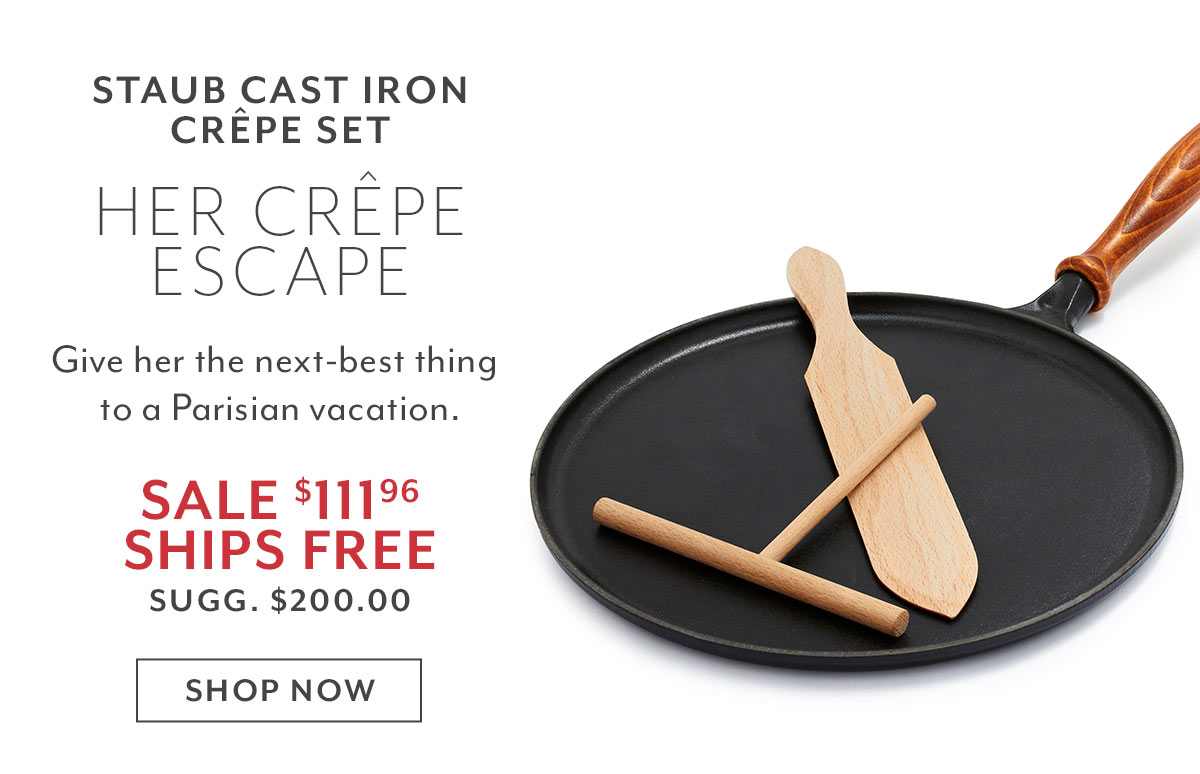 Staub Cast Iron Crpe Set