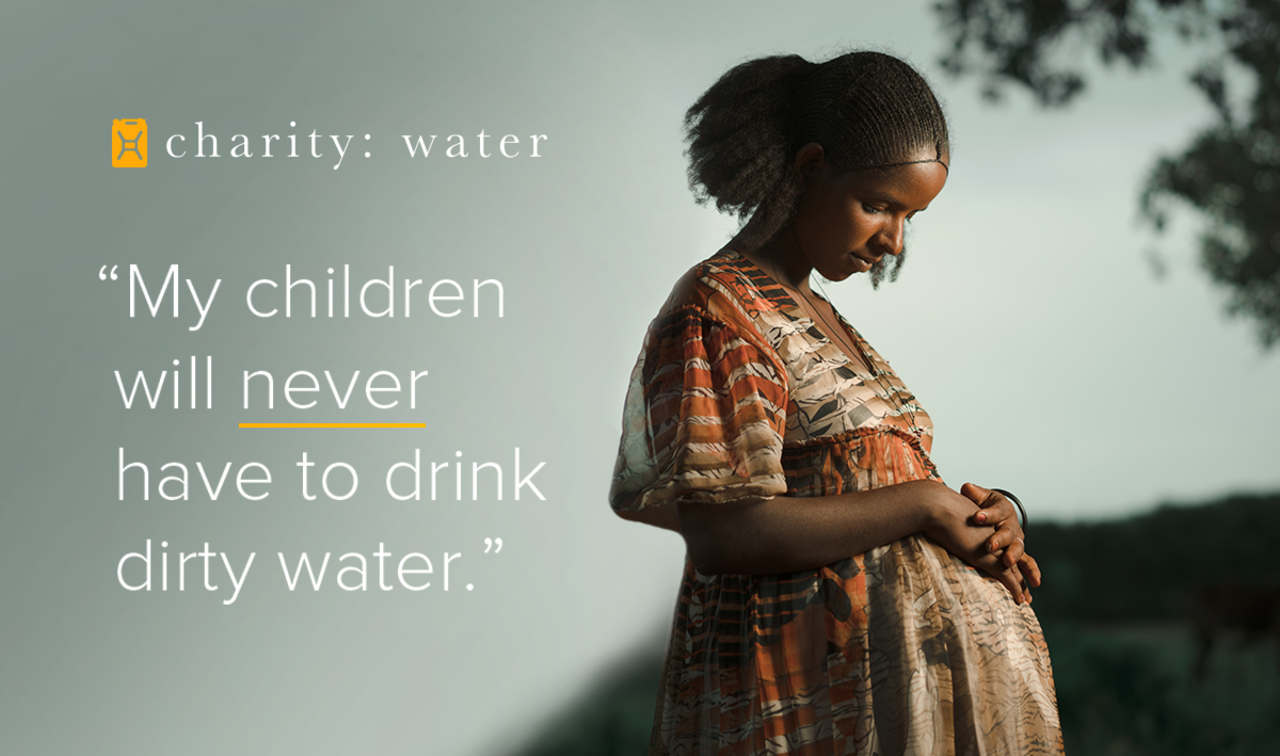 """My children will never have to drink dirty water."" - Gueday"