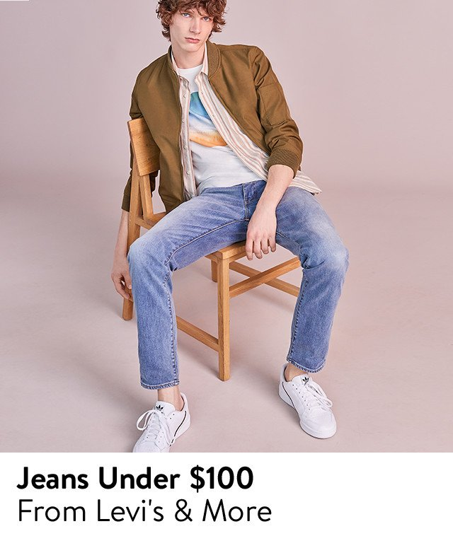 Men's jeans from Levi's and more.