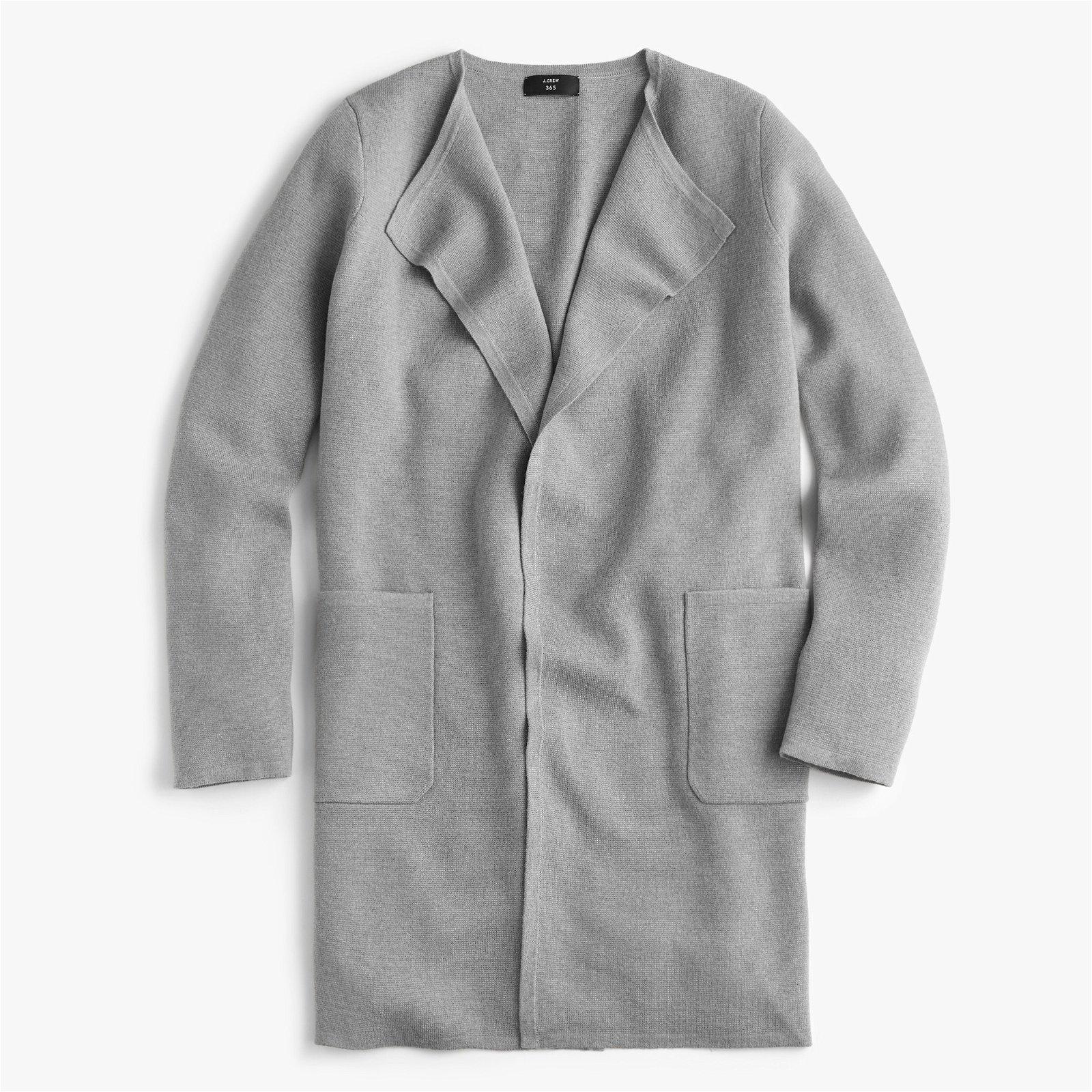 Juliette collarless sweater-blazer